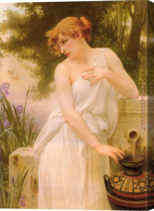Guillaume Seignac Beauty At The Well Stretched Canvas Painting