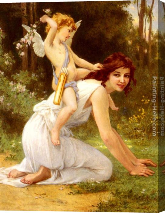 Guillaume Seignac Cupid's Folly Stretched Canvas Painting