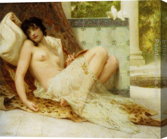 Guillaume Seignac L'Odalisque Aux Colombes Stretched Canvas Painting