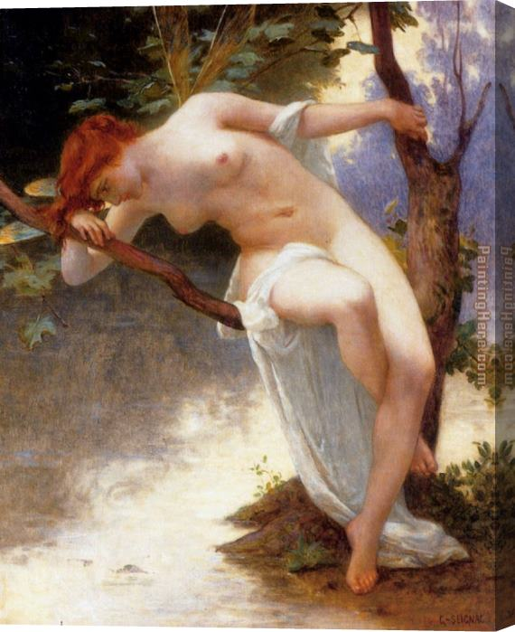 Guillaume Seignac La Libellule Stretched Canvas Painting