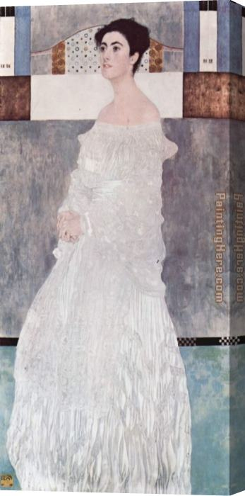 Gustav Klimt Portrait of Margaret Stonborough Wittgenstei Stretched Canvas Painting