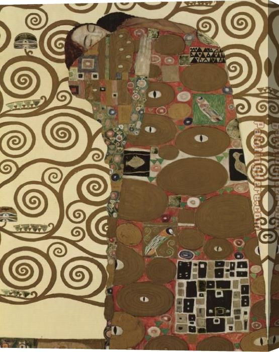 Gustav Klimt The Fulfillment (detail I) Stretched Canvas Painting