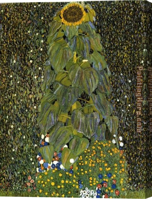 Gustav Klimt The Sunflower Stretched Canvas Painting
