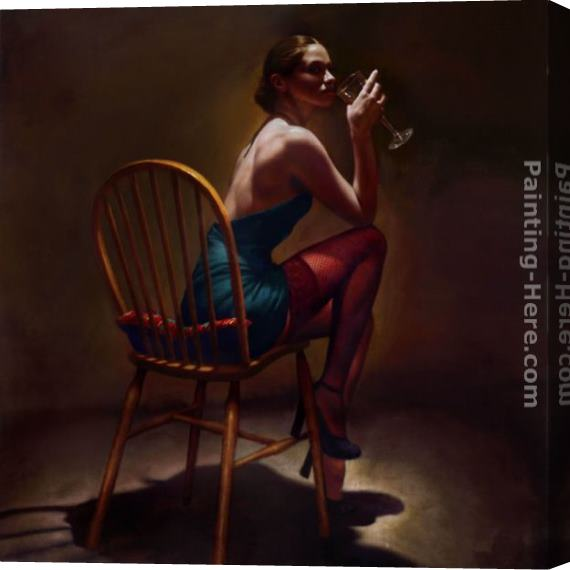 Hamish Blakely Sitting Pretty Stretched Canvas Painting