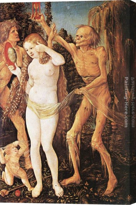 Hans Baldung Three Ages of the Woman and the Death Stretched Canvas Painting
