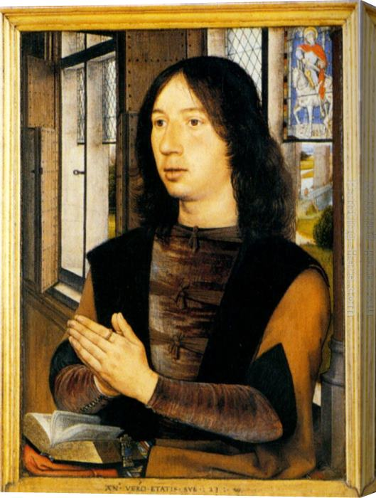 Hans Memling Diptych Of Martin Van Nieuwenhove (pic 2) Stretched Canvas Painting