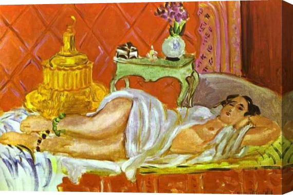 Henri Matisse Odalisque Harmony in Red Stretched Canvas Painting