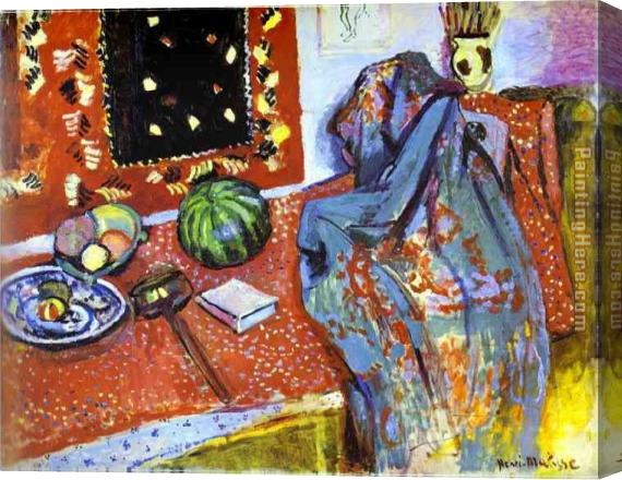 Henri Matisse Oriental Rugs Stretched Canvas Painting