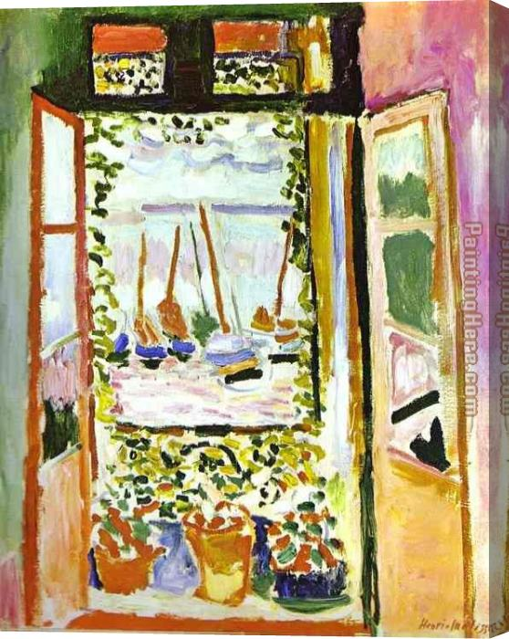Henri Matisse The Window Stretched Canvas Painting