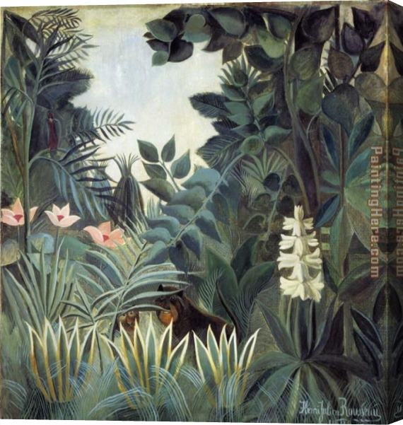 Henri Rousseau The Equatorial Jungle Stretched Canvas Painting