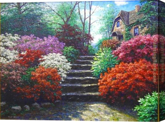 Henry Peeters Fairfield Steps Stretched Canvas Painting