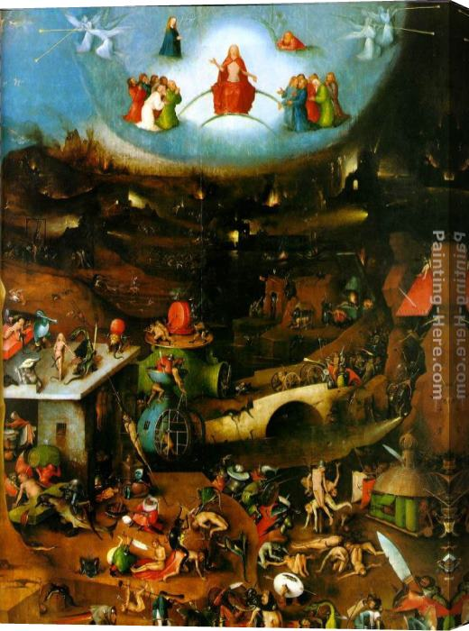 Hieronymus Bosch Last Judgement, central panel of the triptych Stretched Canvas Painting