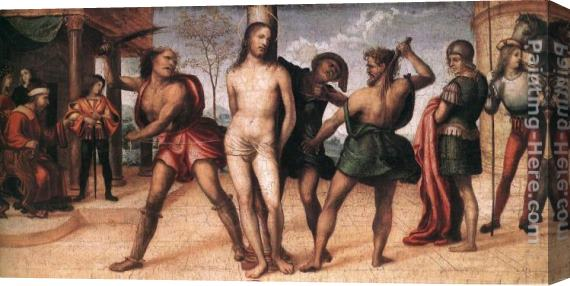 Il Sodoma Flagellation of Christ Stretched Canvas Painting