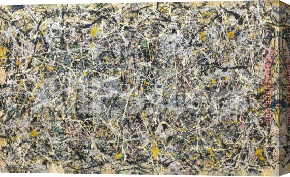 Jackson Pollock No 1 1949 Stretched Canvas Painting