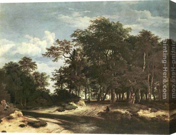 Jacob van Ruisdael The Large Forest Stretched Canvas Painting