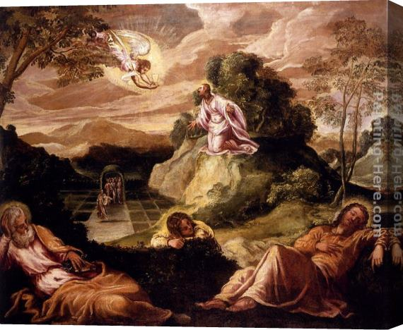 Jacopo Robusti Tintoretto Agony In The Garden Stretched