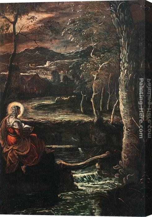 Jacopo Robusti Tintoretto St Mary of Egypt Stretched Canvas Painting