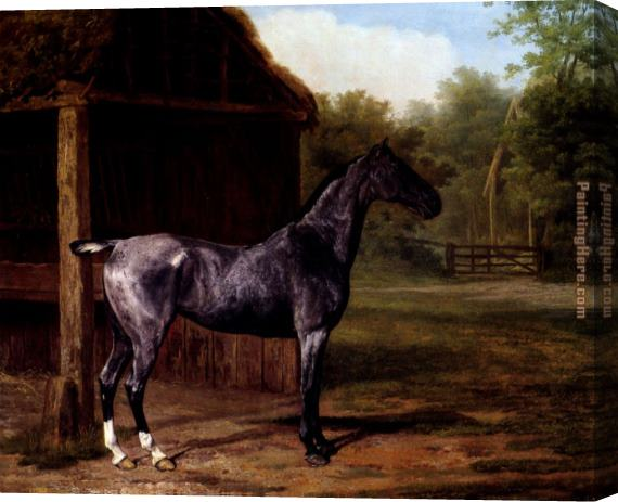 Jacques Laurent Agasse lord Rivers' Roan mare In A Landscape Stretched Canvas Painting