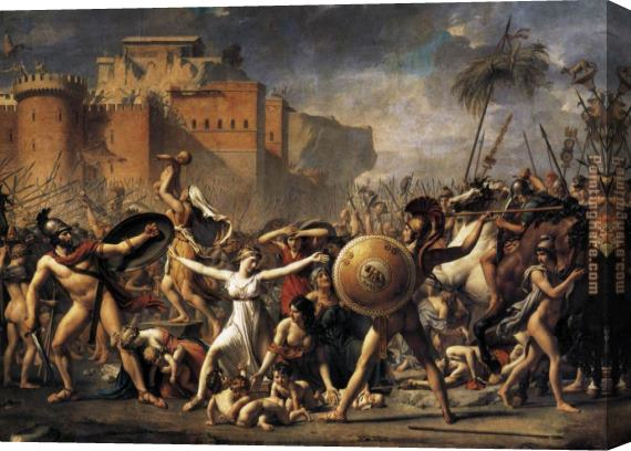Jacques-Louis David The Intervention of the Sabine Women Stretched Canvas Painting