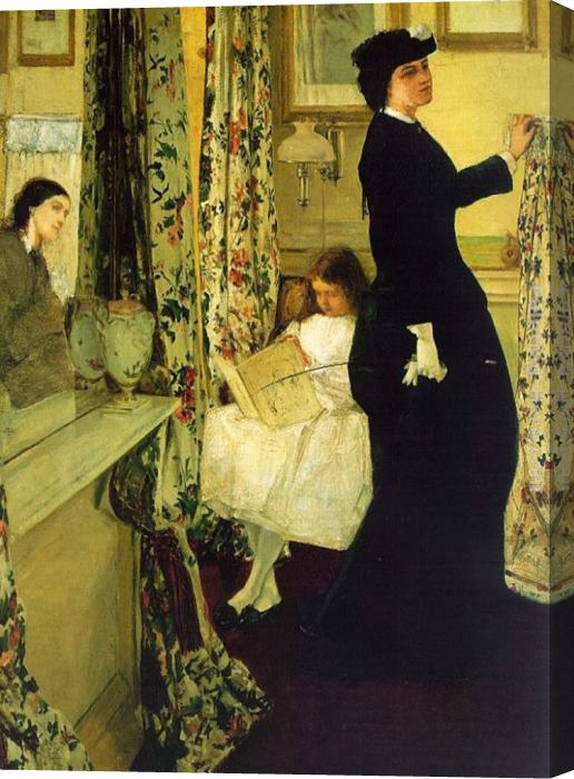 James Abbott McNeill Whistler Harmony in Green and Rose The Music Room Stretched Canvas Painting