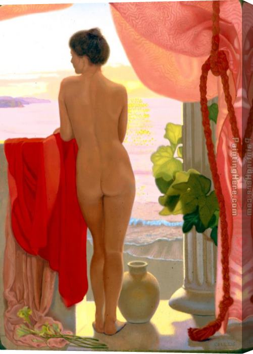 James Childs From The Terrace Stretched Canvas Painting