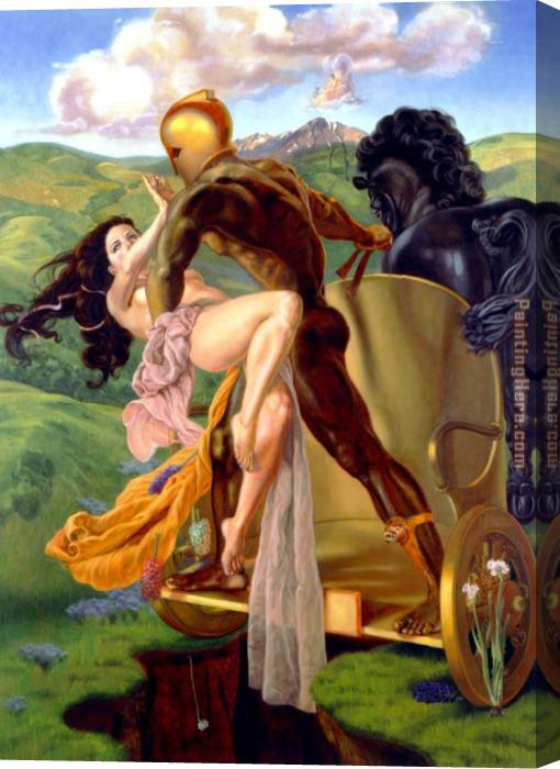 James Childs Rape Of Persephone Stretched Canvas Painting