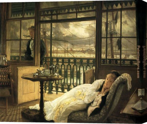 James Jacques Joseph Tissot A Passing Storm Stretched Canvas Painting