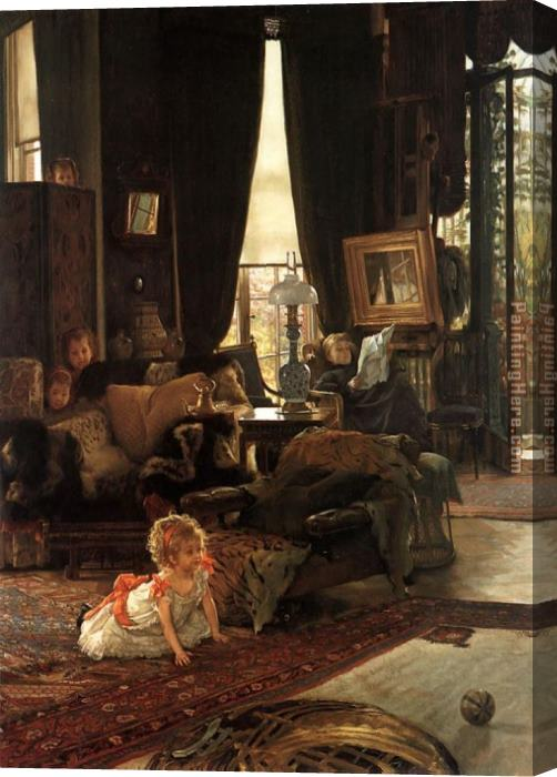 James Jacques Joseph Tissot Hide and Seek Stretched Canvas Painting