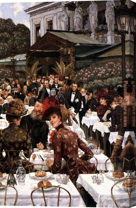 James Jacques Joseph Tissot The Artist's Ladies Stretched Canvas Painting