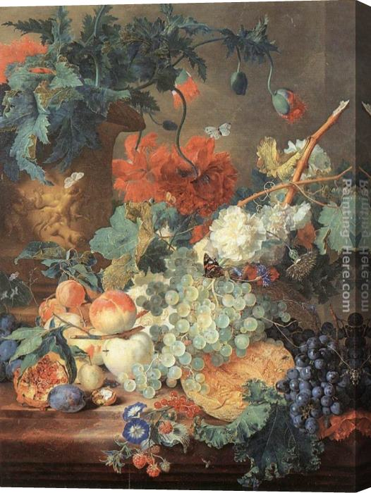 Jan Van Huysum Fruit and Flowers Stretched Canvas Painting