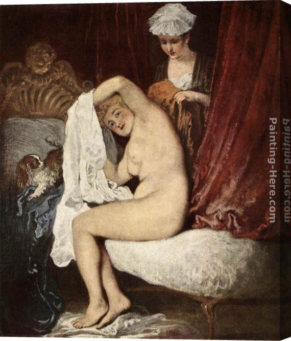 Jean-Antoine Watteau The Toilette Stretched Canvas Painting