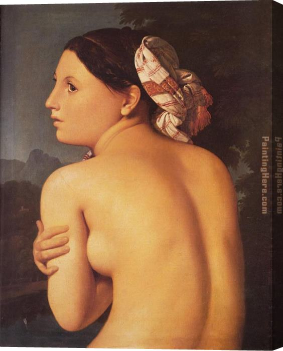 Jean Auguste Dominique Ingres Half-figure of a Bather Stretched Canvas Painting