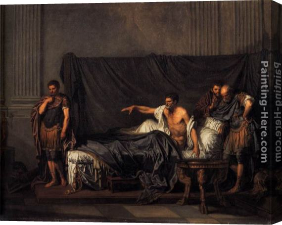 Jean Baptiste Greuze Septimius Severus and Caracalla Stretched Canvas Painting
