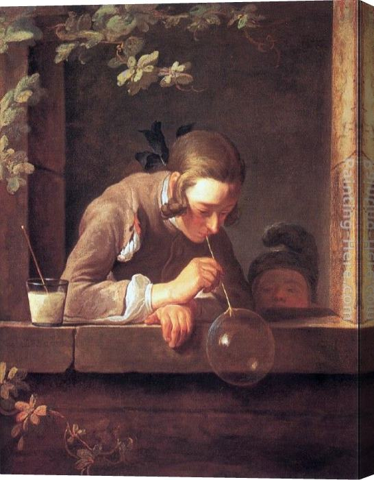 Jean Baptiste Simeon Chardin Soap Bubbles Stretched Canvas Painting