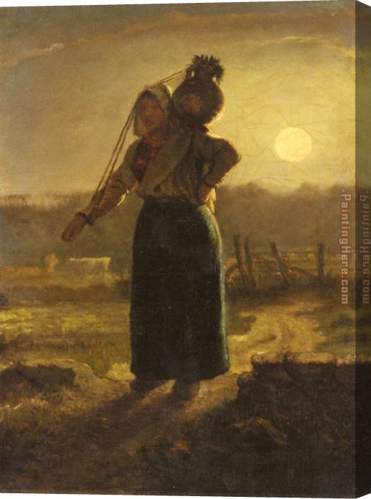 Jean Francois Millet Norman Milkmaid Stretched Canvas Painting
