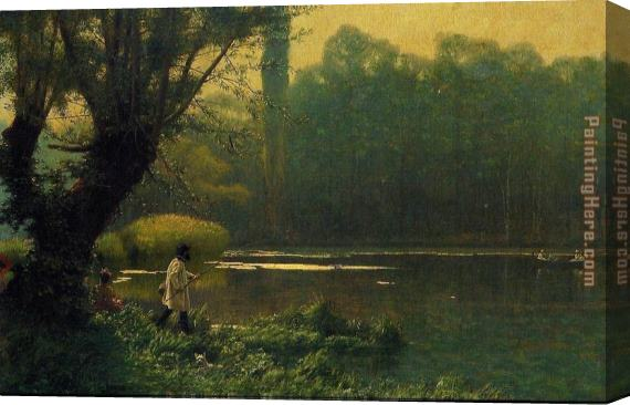 Jean-Leon Gerome Summer Afternoon on a Lake Stretched Canvas Painting