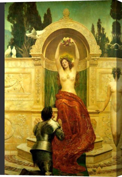 John Collier In the Venusberg Tannhauser Stretched Canvas Painting