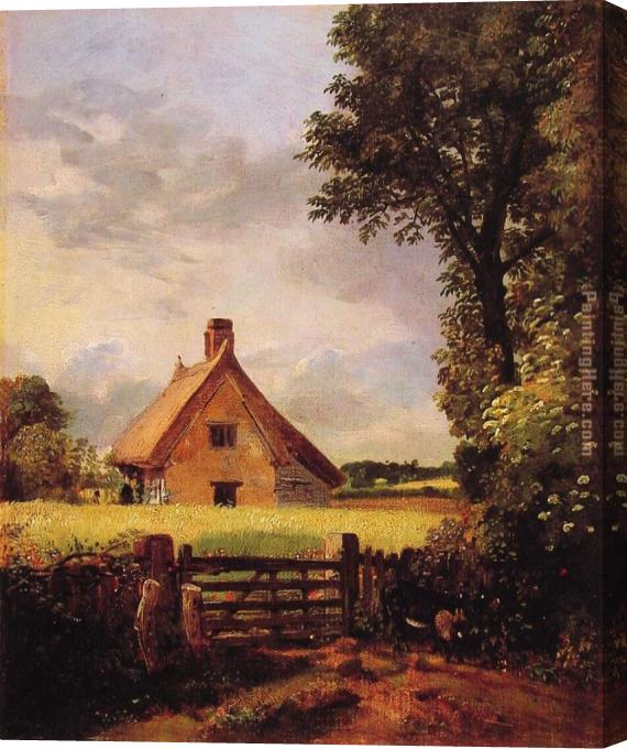 John Constable A Cottage in a Cornfield Stretched Canvas Painting