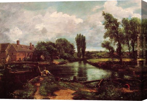 John Constable A Water-Mill Stretched Canvas Painting