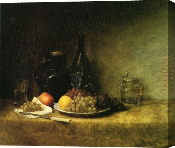 John Ottis Adams Still Life 1883 Stretched Canvas Painting