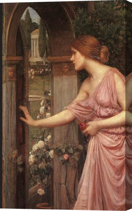 John William Waterhouse Psyche Entering Cupid's Garden Stretched Canvas Painting