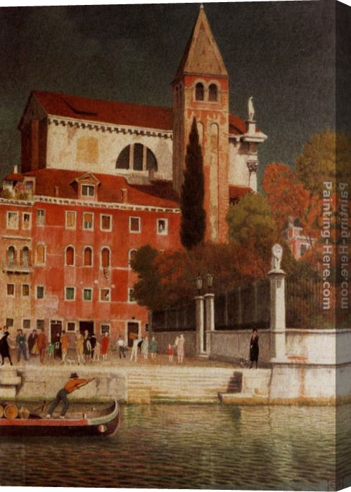 Joseph Edward Southall San Vitale Venice Stretched Canvas Painting