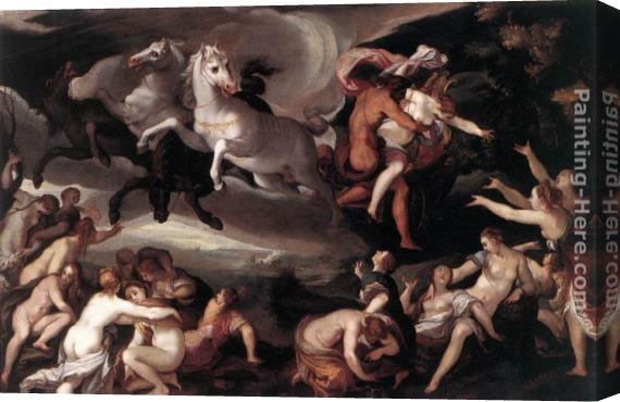 Joseph Heintz the Elder The Rape of Proserpina Stretched Canvas Painting