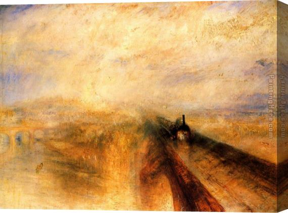 Joseph Mallord William Turner Rain, Steam and Speed - The Great Western Railway Stretched Canvas Painting