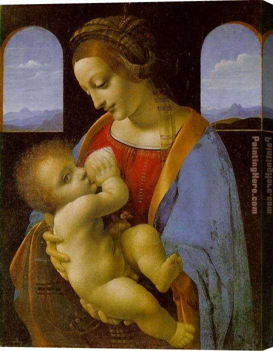 Leonardo da Vinci Madonna Litta Stretched Canvas Painting