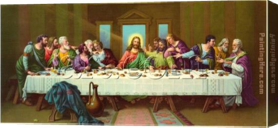Leonardo da Vinci picture of last supper Stretched Canvas Painting