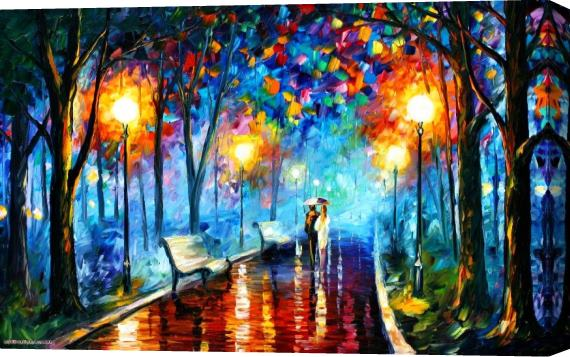 Leonid Afremov MISTY MOOD Stretched Canvas Painting