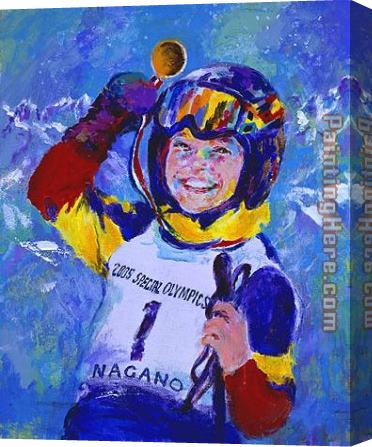 Leroy Neiman 2005 Special Olympics Nagano Stretched Canvas Painting