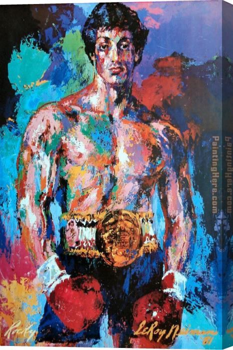 Leroy Neiman Rocky Balboa Stretched Canvas Painting