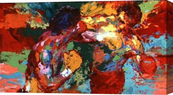 Leroy Neiman Rocky vs Apollo Stretched Canvas Painting